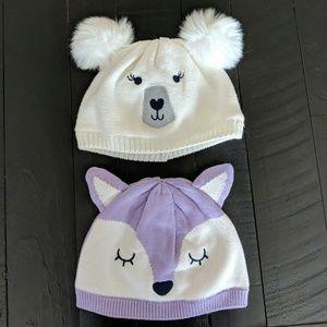 NWOT Gymboree 12-24 month Winter Hats